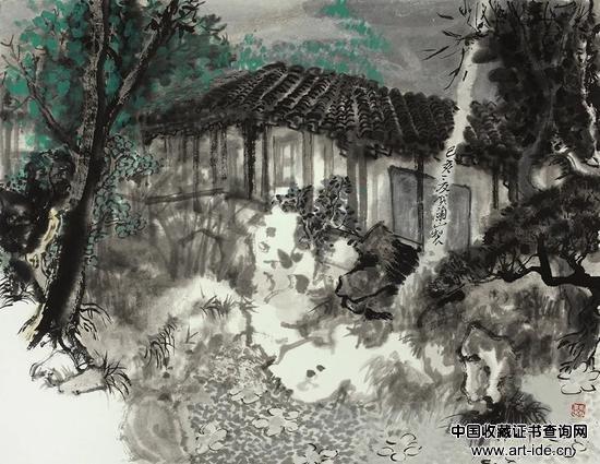 贺兰山 姑苏烟云之三   47×36cm 水墨纸本 2019