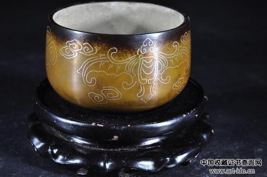 青铜镶嵌银丝香炉    拍品编号:191    起拍价:300 美元