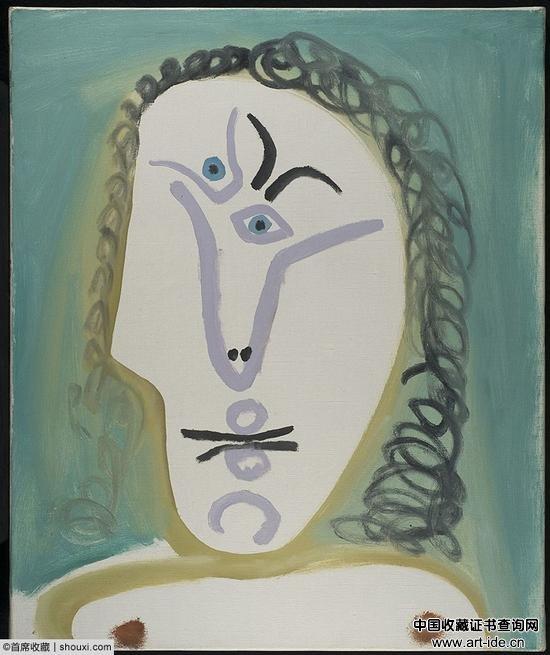 毕加索《女人半身像》