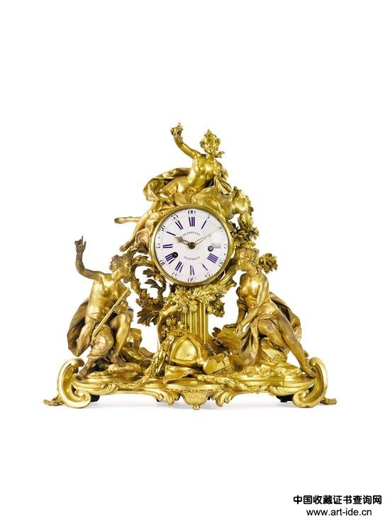 Property from a Distinguished Private Asian Collection_A   Large Louis XVI Ormolu Mantle Clock